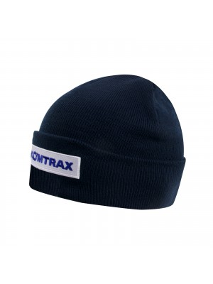 Winterhat (blue) with Komtrax badge