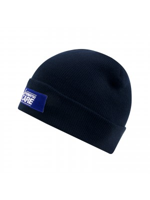 Winterhat (blue) with Komatsu Care badge