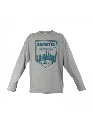 Men's Grey T-Shirt Long Sleeves