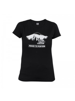 Women's Black T-shirt Short Sleeves
