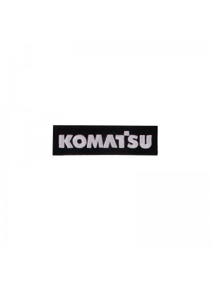 Badge Komatsu (black with white)