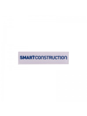 Badge Smart Construction (white with blue)