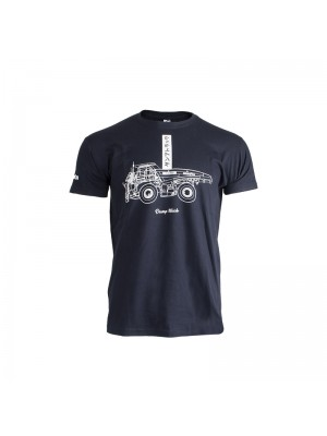 T-shirt Calligraphy navy