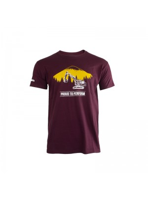 T-shirt Short Sleeves Men BURGUNDY