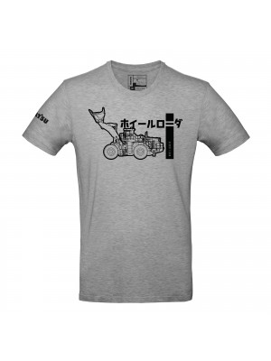 Heather grey t-shirt men - Calligraphy